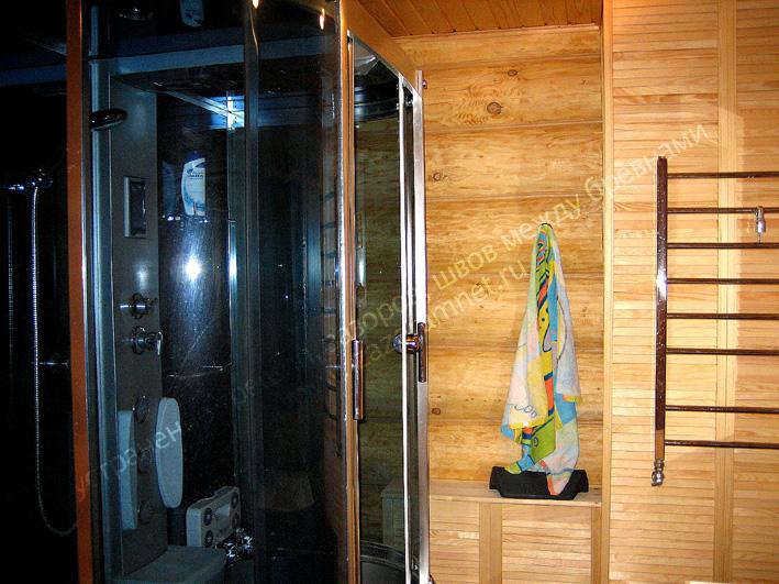 утепление душевой ванной комнаты деревянного дома