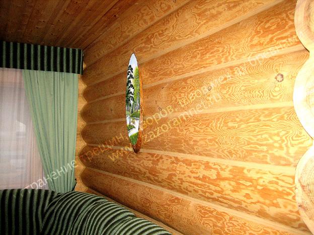 фото утепления дома из бревна