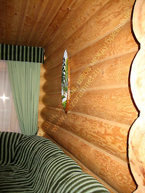 фотографии утепления дома из бревна