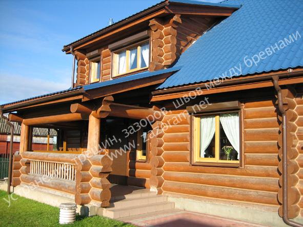 утепление рубленого дома
