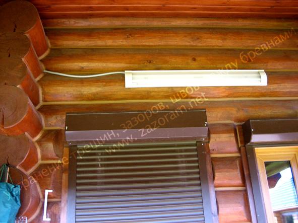 устранение щелей в деревянном доме