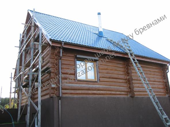 утепление рубленного дома с цокольным этажом