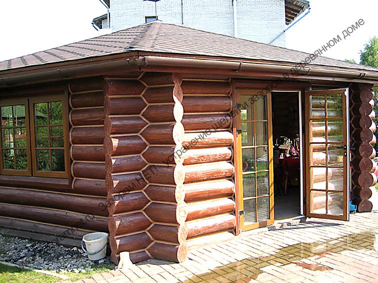 утеплить деревянную беседку из бревна
