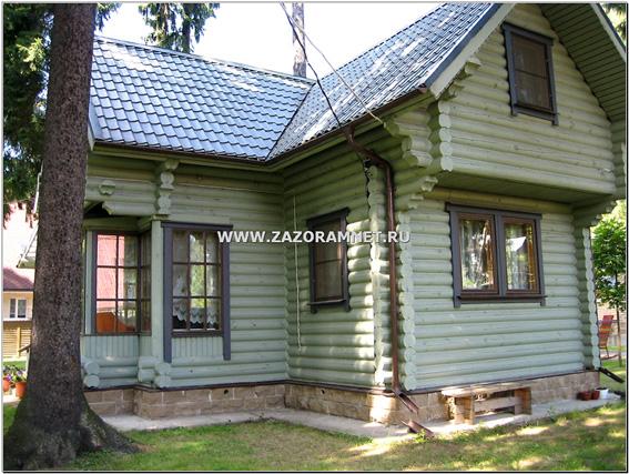 покраска деревянного дома из бревна, лафета и бруса в санкт петербурге