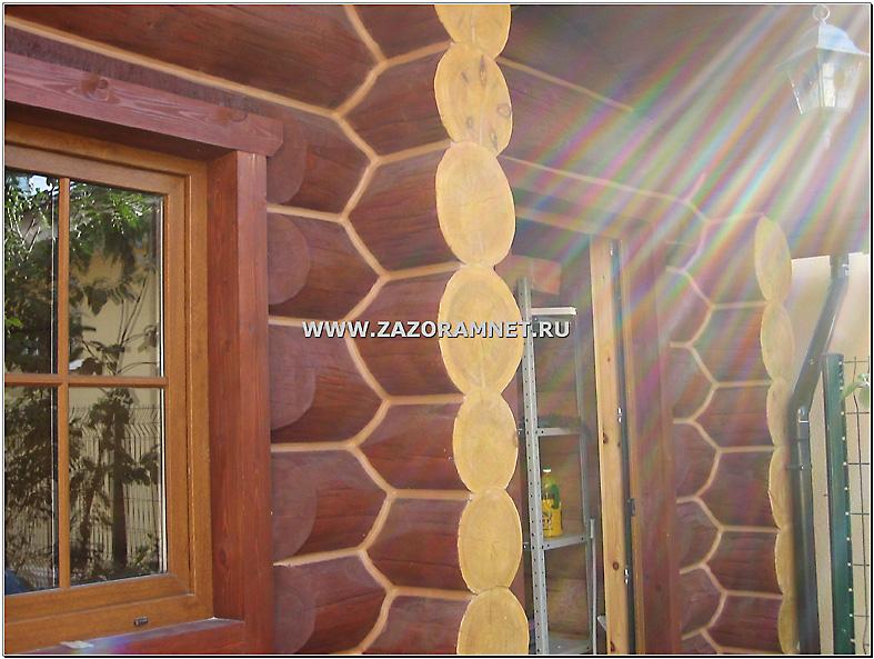 утепление стен рубленой бани герметиком