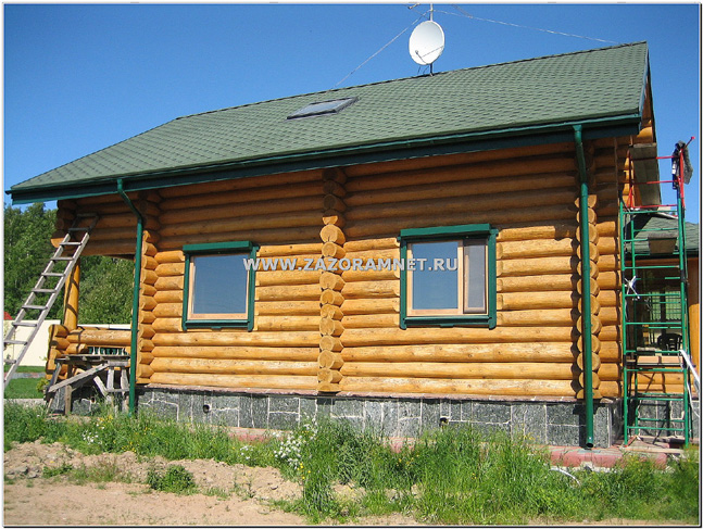 услуга покраска деревянного дома