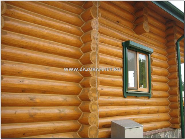 герметизации фасада дома ручной рубки