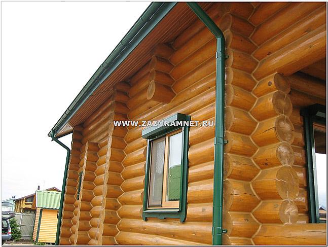 заказать покраску деревянного дома из бревна в спб и ленобласти