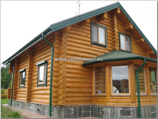 заказать профессиональную покраску деревянного дома питер